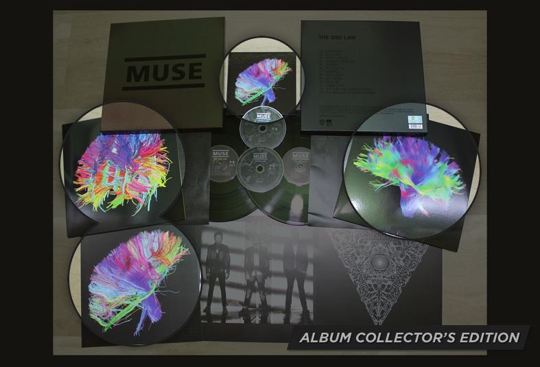 24x24 POSTER Muse ALBUM COVER simulazione teoria alla legge 2nd DRONI 05 K-281